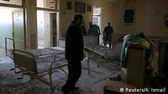 Syrien Aleppo Zerstörung nach Angriff auf Krankenhaus (Reuters/A. Ismail)