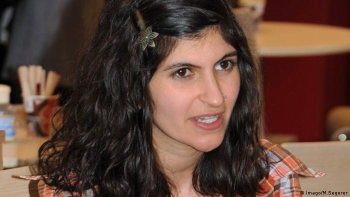 Shida Bazyar auf der Buchmesse in Leipzig (Imago/M.Segerer)