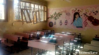 West Aleppo Bombardierung Schule