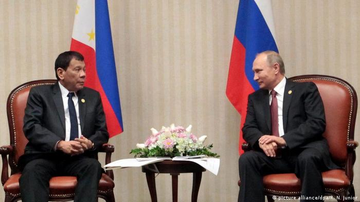 Peru APEC Gipfel 2016 Rodrigo Duterte Wladimir Putin (picture alliance/dpa/RN Junior)