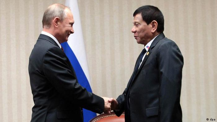 Путін та Дутерте під час першої зустрічі