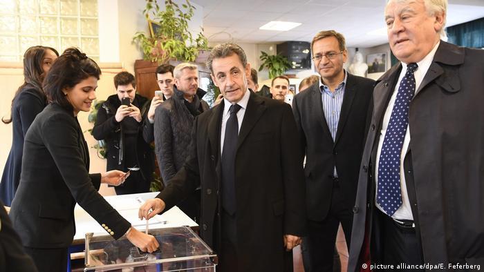 Frankreich Vorwahl Präsidentschaftswahl Nicolas Sarkozy (picture alliance/dpa/E. Feferberg)