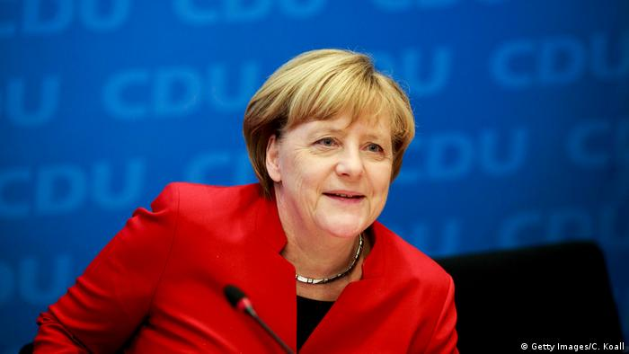 Angela Merkel kandidiert erneut (Getty Images/C. Koall)