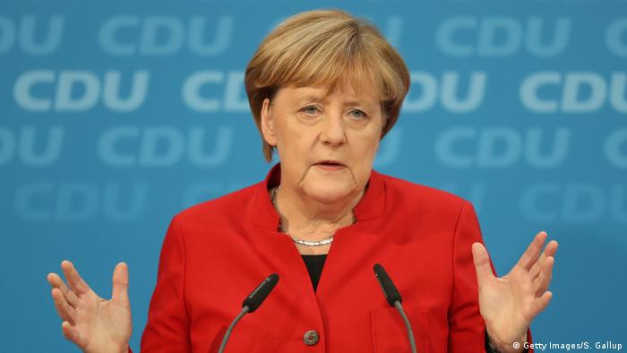 Angela Merkel kandidiert erneut (Getty Images/S. Gallup)