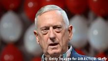 LAS VEGAS, NV - JULY 23: Retired Marine Corps Gen. James Jim Mattis speaks during the DIRECTV and Operation Gratitude day of service at the fifth annual DIRECTV Dealer Revolution Conference at Caesars Palace on July 23, 2015 in Las Vegas, Nevada. (Photo by Bryan Steffy/Getty Images for DIRECTV)
