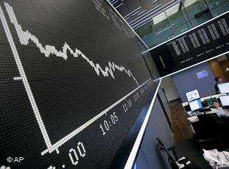 Shares dive on the German stock exchange