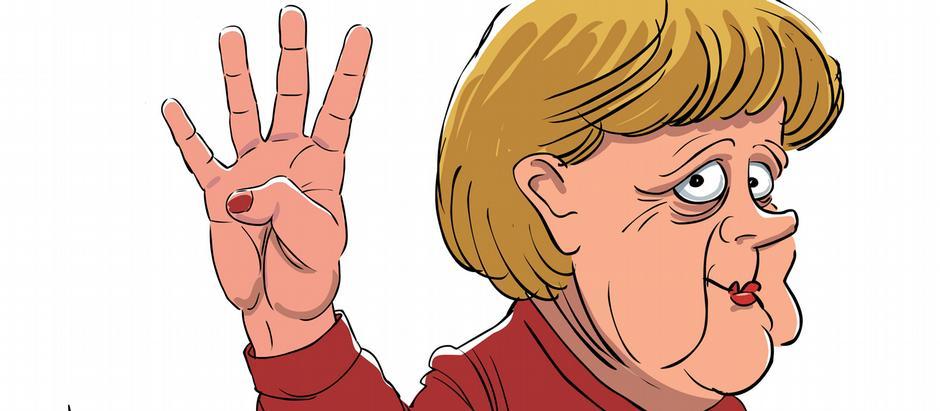 Такою бачить Анґелу Меркель карикатурист Сергій Йолкін