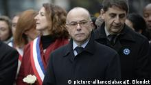 13.11.2016+++ French Interior Minister Bernard Cazeneuve and Claude Bartolone attending a ceremony presided over by French President Francois Hollande to commemorate the first anniversary of the November 2015 terrorist attacks, at Stade de France in Saint-Denis near Paris, France on November 13, 2016. 130 people lost their lives during the attacks on 13 November 2015. Photo by Eliot Blondet/ABACAPRESS.COM |
