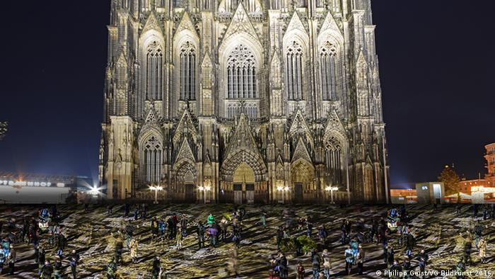 Germany computer simulation for Cologne cathedral