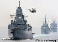 Schiffskonvoi (Foto: dpa)