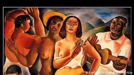 Gemälde Samba von Emiliano Di Cavalcanti (Emiliano Di Cavalcanti/FairUse)