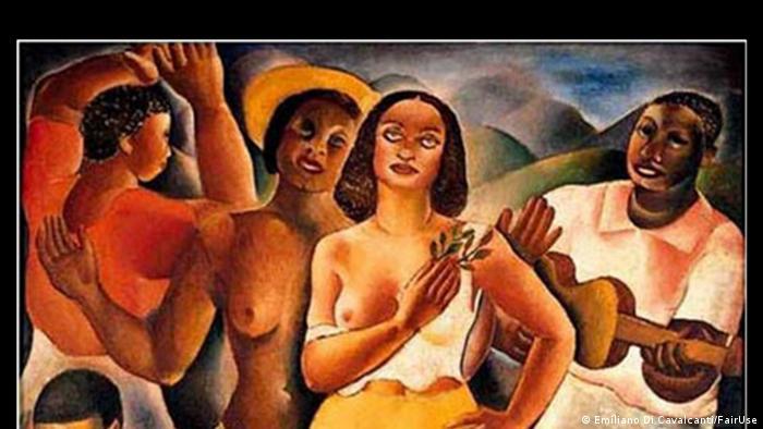 Samba oil painting Emiliano Di Cavalcanti (Emiliano Di Cavalcanti/FairUse)
