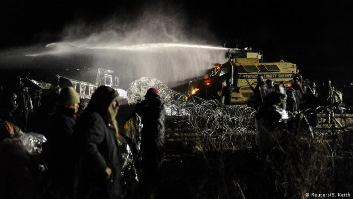 USA North Dakota Protest gegen Ölpipeline (Reuters/S. Keith)