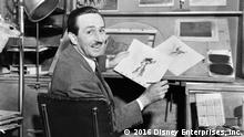 Walt Disney am Zeichentisch