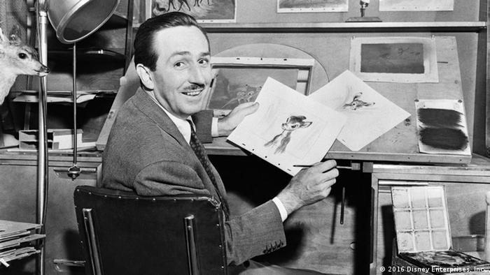 Walt Disney at his drawing table (2016 Disney Enterprises, Inc.)