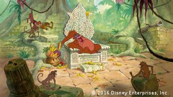 Filmszene aus dem Zeichentrickfilm Das Dschungelbuch zeigt den Affenkönig