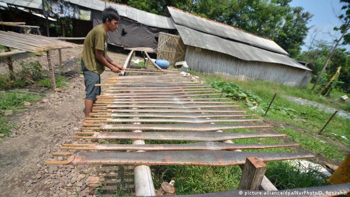 Indonesien Produktion Schlangenleder (picture-alliance/dpa/NurPhoto/D. Roszandi)