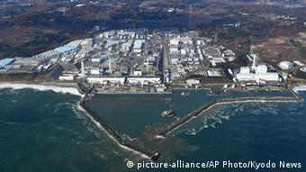 An aerial view of the Fukushima nuclear power plant