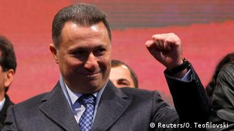 Ο πρωθυπουργός και αρχηγός του κυβερνώντος συντηρητικού κόμματος VMRO-DPMNE Νίκολα Γκρουέφσκι
