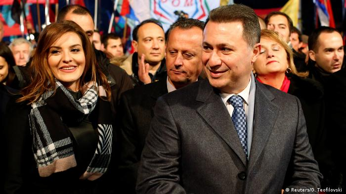 Mazedonien Wahlkampagne Nikola Gruevski in Ohrid