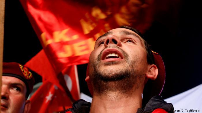 Mazedonien Wahlkampagne Unterstützer der Regierungspartei in Ohrid (Reuters/O. Teofilovski )