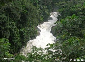 Kwa Falls, along the Kwa River in Cross River State, Nigeria