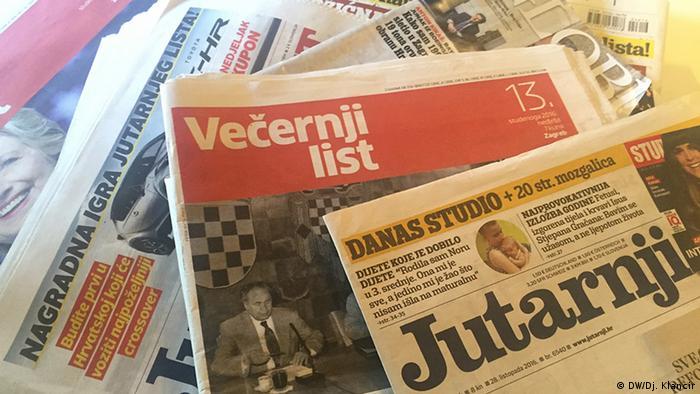 Kroatische Tageszeitungen Presseschau Symbolbild
