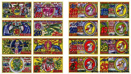 Χέλμουτ Κινγκ... όπως «βασιλιάς», ονομάζεται ο καλλιτέχνης που κρύβεται πίσω από το σχεδιασμό αυτών των χαρτονομισμάτων. Πάνω τους απεικονονίζονται περίεργες φιγούρες, εμπνευσμένες από το ζωϊκό βασίλειο, σε πολύ έντονα χρώματα.
