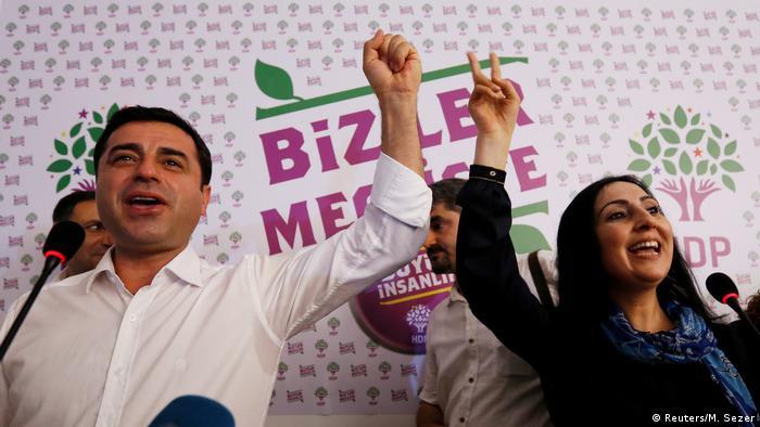 Türkei Demirtas und Yuksekdag HDP Vorsitzende in Istanbul
