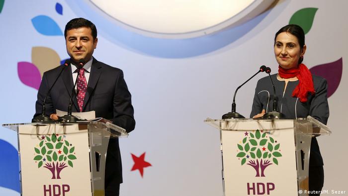 Ehemaligen Vorsitzenden der Partei Selahattin Demirtas und Figen Yüksekdag