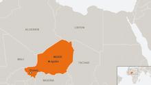Karte Niger Agadez Deutsch