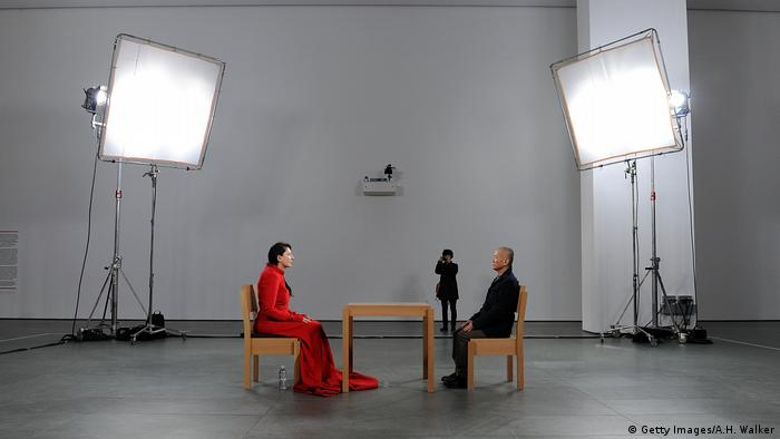 Marina Abramovic in MoMA for The Artist is Present (2010) (Getty Images/A.H. Walker)