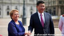Chile Michelle Bachelet und Xi Jinping in Santiago