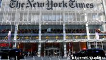 USA Donald Trump bei der New York Times