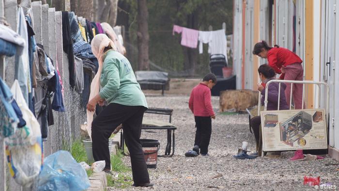 Refugee center in Harmanli, Bulgaria