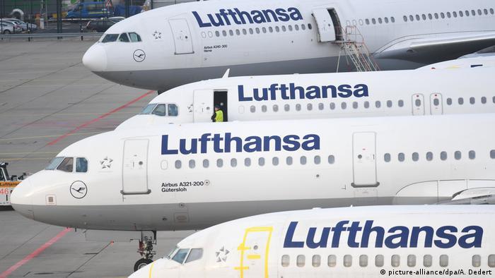 Deutschland Lufthansa-Pilotenstreik in Frankfurt (picture-alliance/dpa/A. Dedert)