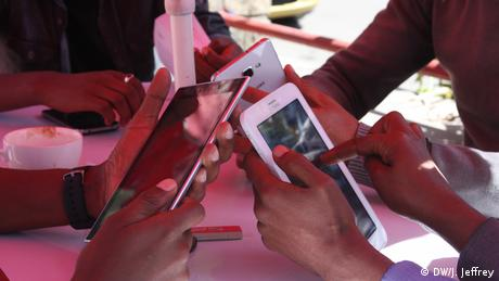 Smartphone use in Addis Ababa: After Ethiopia declared a six-month state of emergency in October 2016, its government had shut down mobile data and blocked numerous social media sites