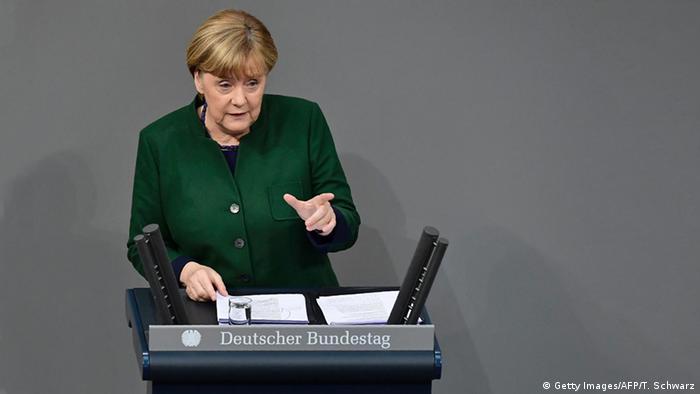 Bundestag Generaldebatte Angela Merkel