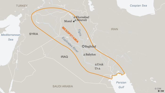 Map of Mesopotamia (DW)