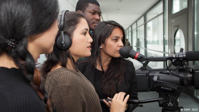 DW Akademie Studiengang International Media Studies Studenten (DW/P. Böll)