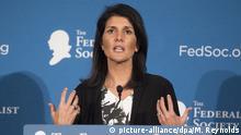 USA Kabinett Donald Trump - designierte UN-Botschafterin Nikki Haley