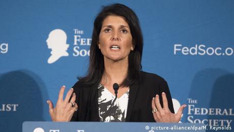 USA Kabinett Donald Trump - designierte UN-Botschafterin Nikki Haley (picture-alliance/dpa/M. Reynolds)