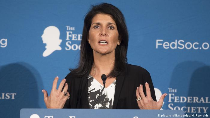 USA Kabinett Donald Trump - designierte UN-Botschafterin Nikki Haley (picture-alliance/dpa/M. Reynolds)