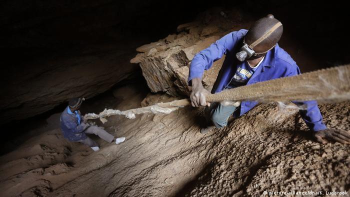 Workers in an illegal mine near Soweto, Johannesburg