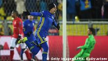 23.11.2016*** Rostov's Ecuadorian midfielder Christian Noboa celebrates after scoring his team's third goal from a free-kick during the UEFA Champions League football match between FC Rostov and FC Bayern Munich at Rostov-on-Don's Olimp 2 stadium on November 23, 2016. / AFP / Kirill KUDRYAVTSEV (Photo credit should read KIRILL KUDRYAVTSEV/AFP/Getty Images)