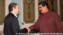 Spanien Venezuela Präsident Nicolas Maduro Jose Luis Rodriguez Zapatero Treffen