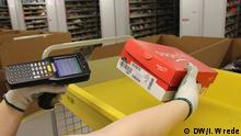 Bad Hersfeld Amazon Logistikzentrum Paket scannen