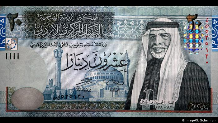 Jordanien Geldschein 20 Dinar (Imago/S. Schellhorn)