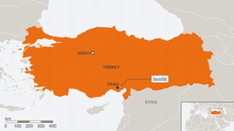 Turkey map Incirlik