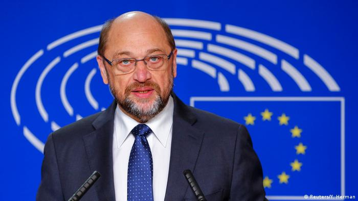 Deutschland Martin Schulz Statement in Brüssel zu seinem Wechsel in die Bundespolitik (Reuters/Y. Herman)